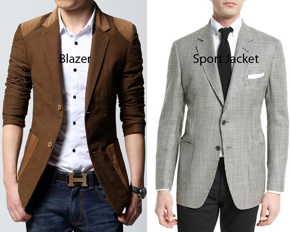 Sports jackets can most easily be identified by their use of thicker fabrics when compared to the suit jacket or blazer (although many sports jackets use lightweight fabric as well). The thicker fabric traditionally protected the wearer from the elements when these jackets were worn by gentlemen who were hunting or shooting.