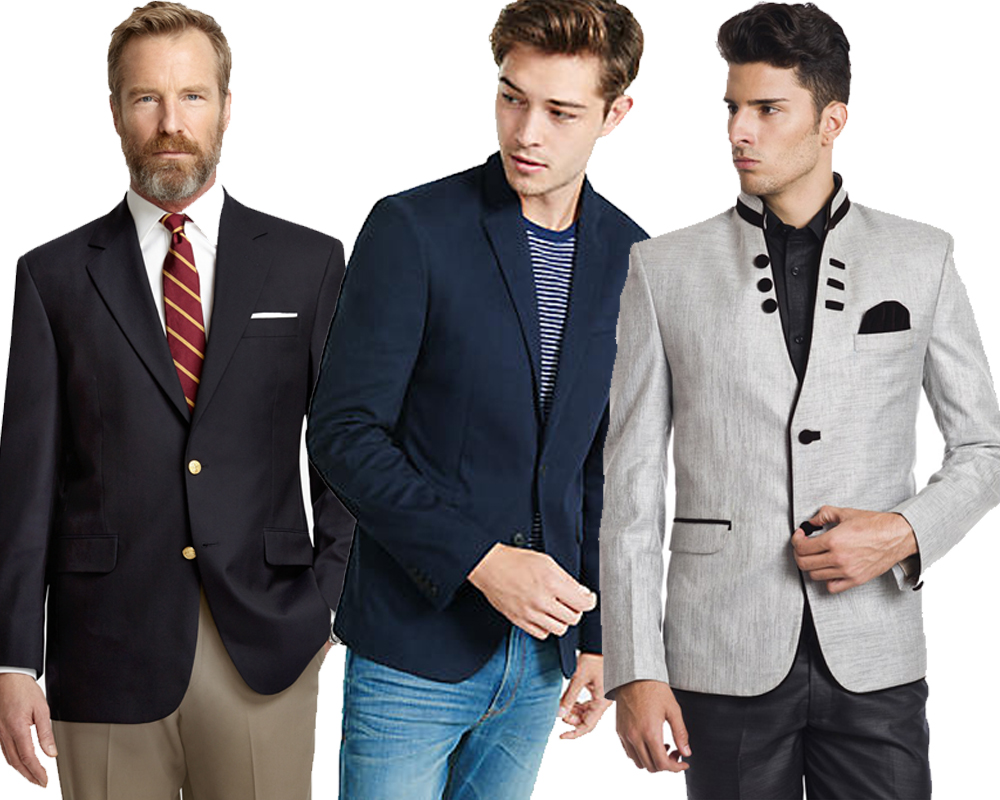 Blazers vs. Sport Coats Due to the heavy materials with which they are typically made, sport coats tend to be a little bulkier and look more casual than their blazer cousins. Another thing to look at when deciding just how casual a jacket is: the pockets.