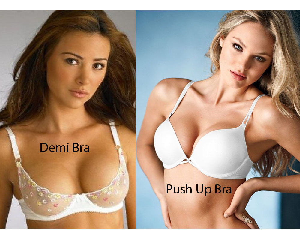 Demi Bra vs Push Up Bra 2