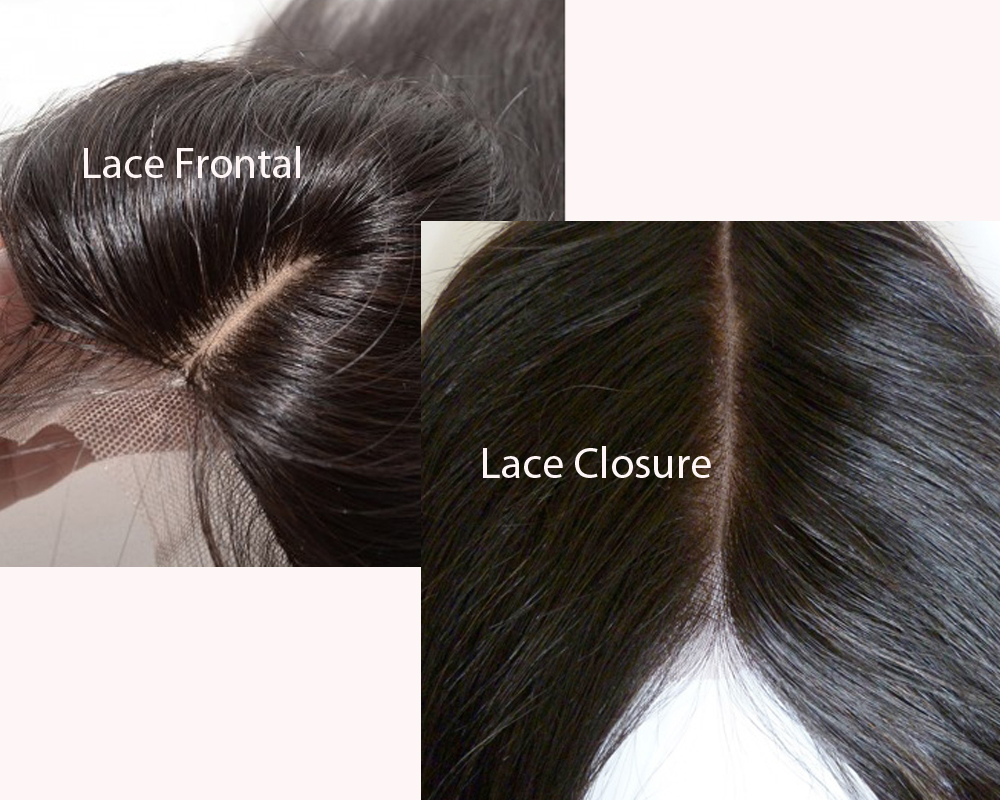 Lace Frontal vs Lace Closure 1