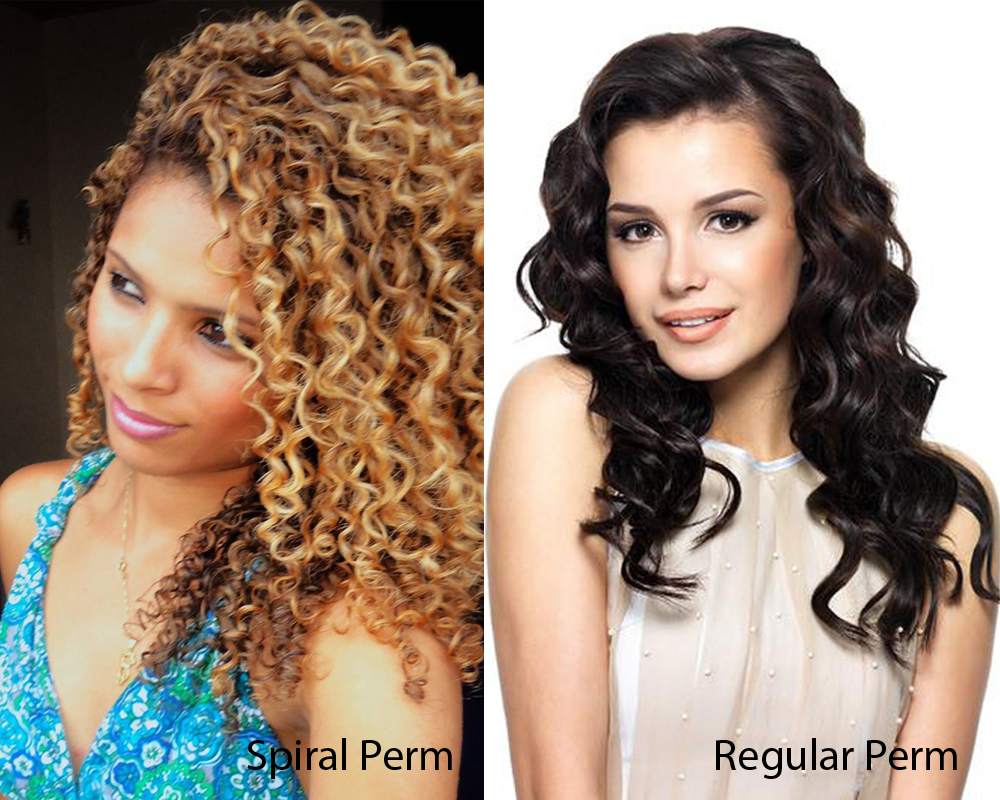 Spiral Perm vs Regular Perm 1