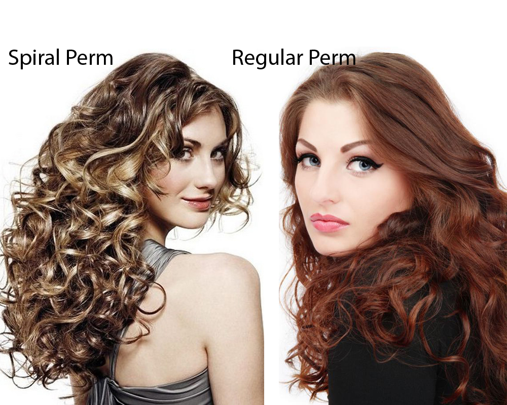 Spiral Perm vs Regular Perm 4