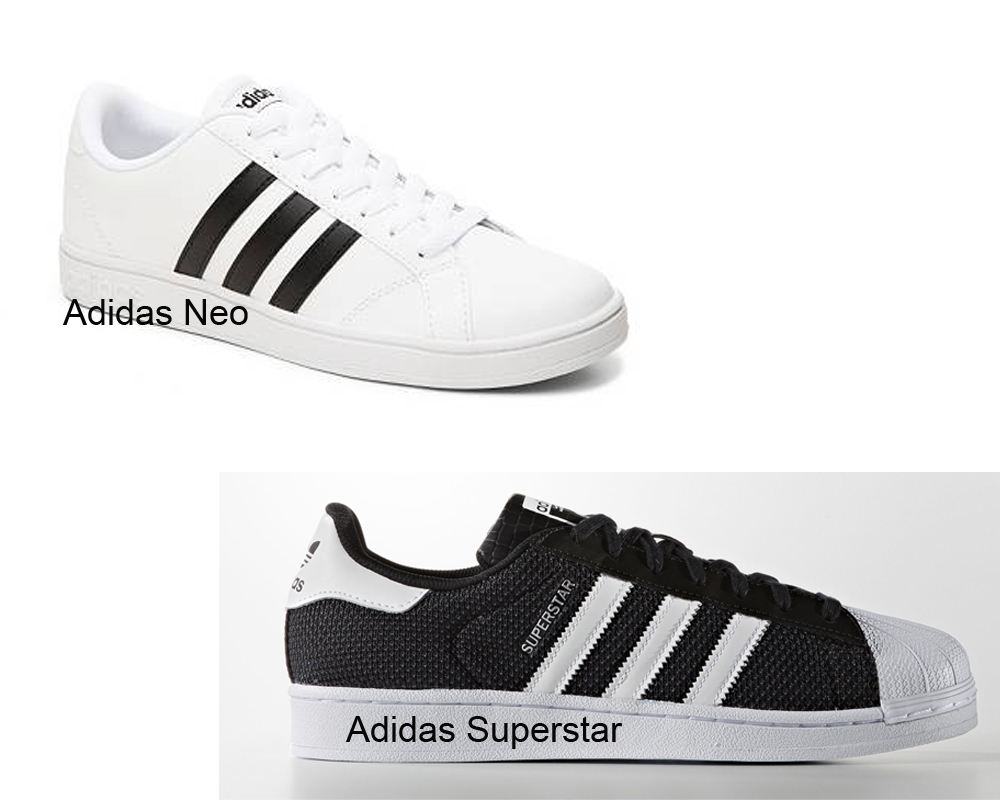 adidas superstar vs superstar 2
