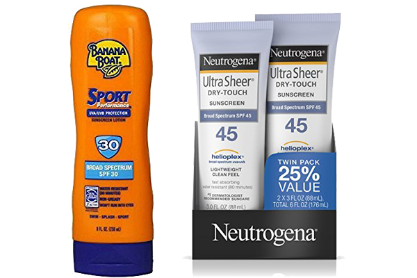 banana boat sunscreen vs neutrogena