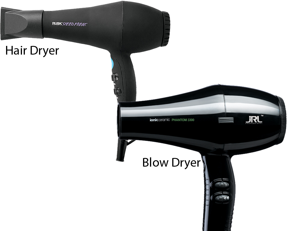 Hair Dryer vs Blow Dryer 1