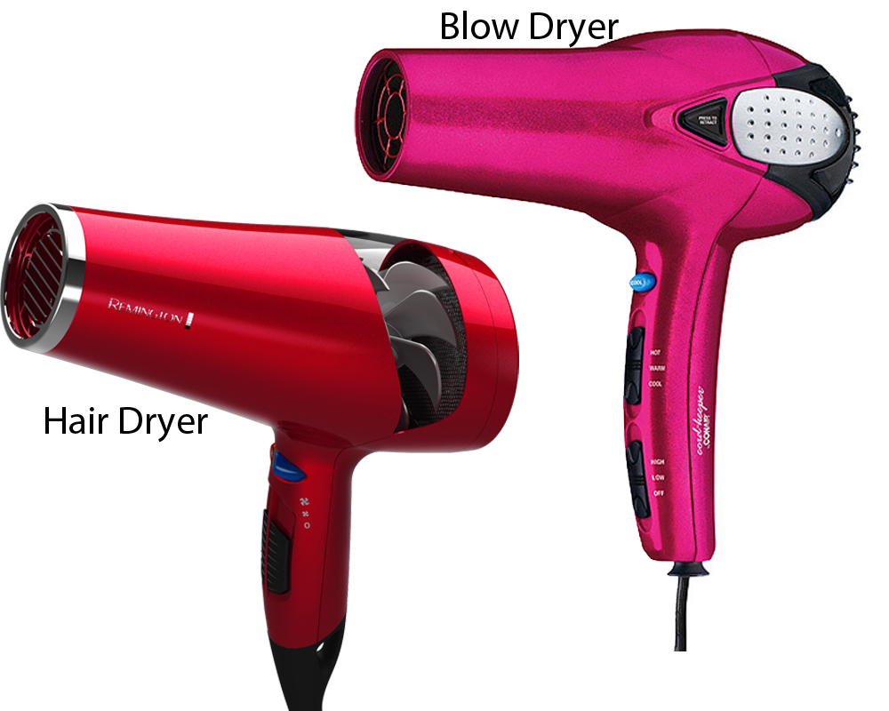 Hair Dryer vs Blow Dryer 2