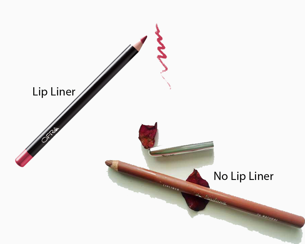 Lip Liner vs No Lip Liner 1