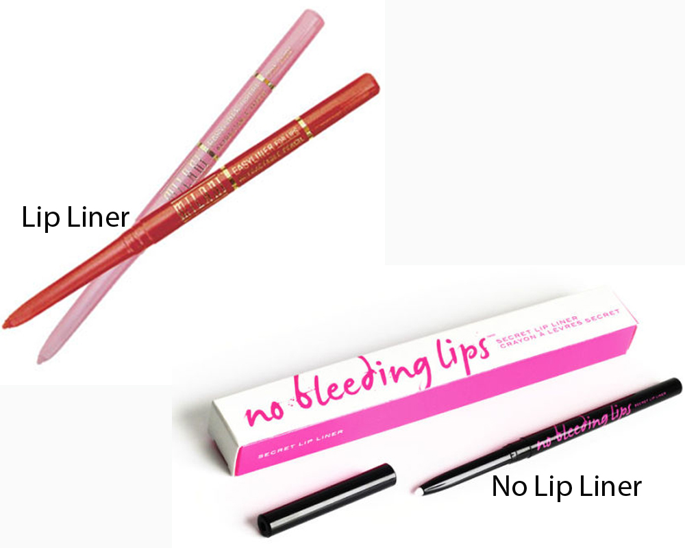 Lip Liner vs No Lip Liner 2