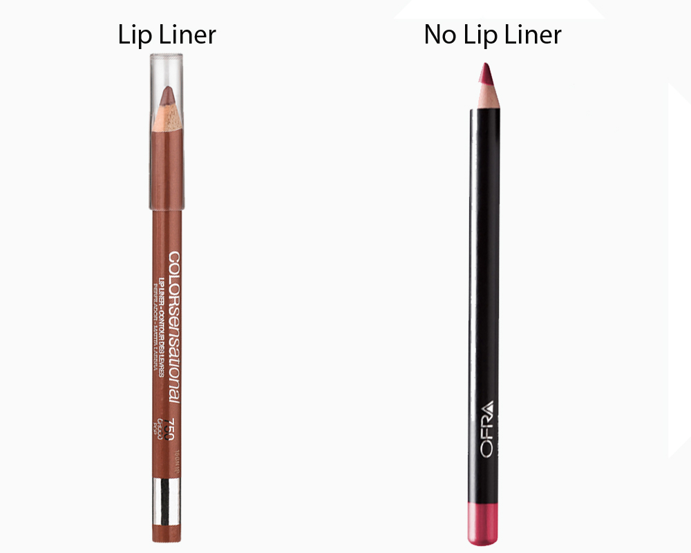 Lip Liner vs No Lip Liner 5