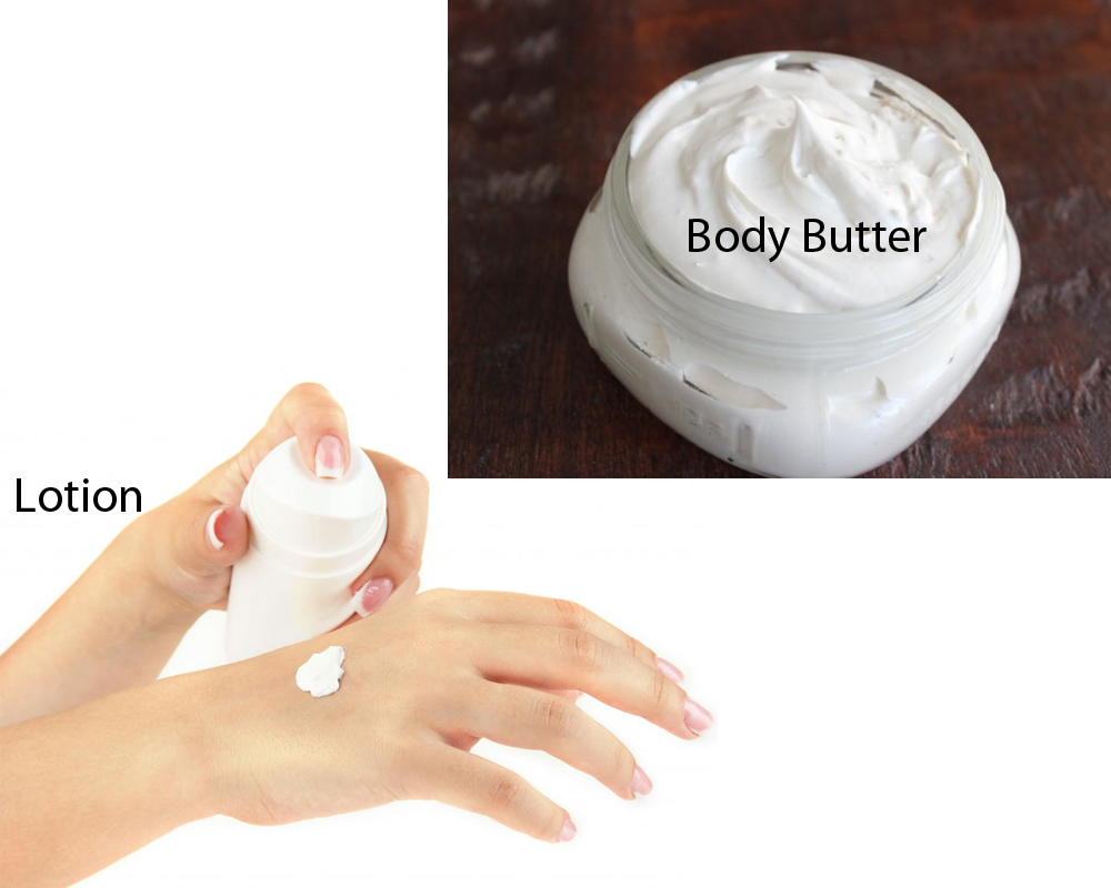 Lotion vs Body Butter 1