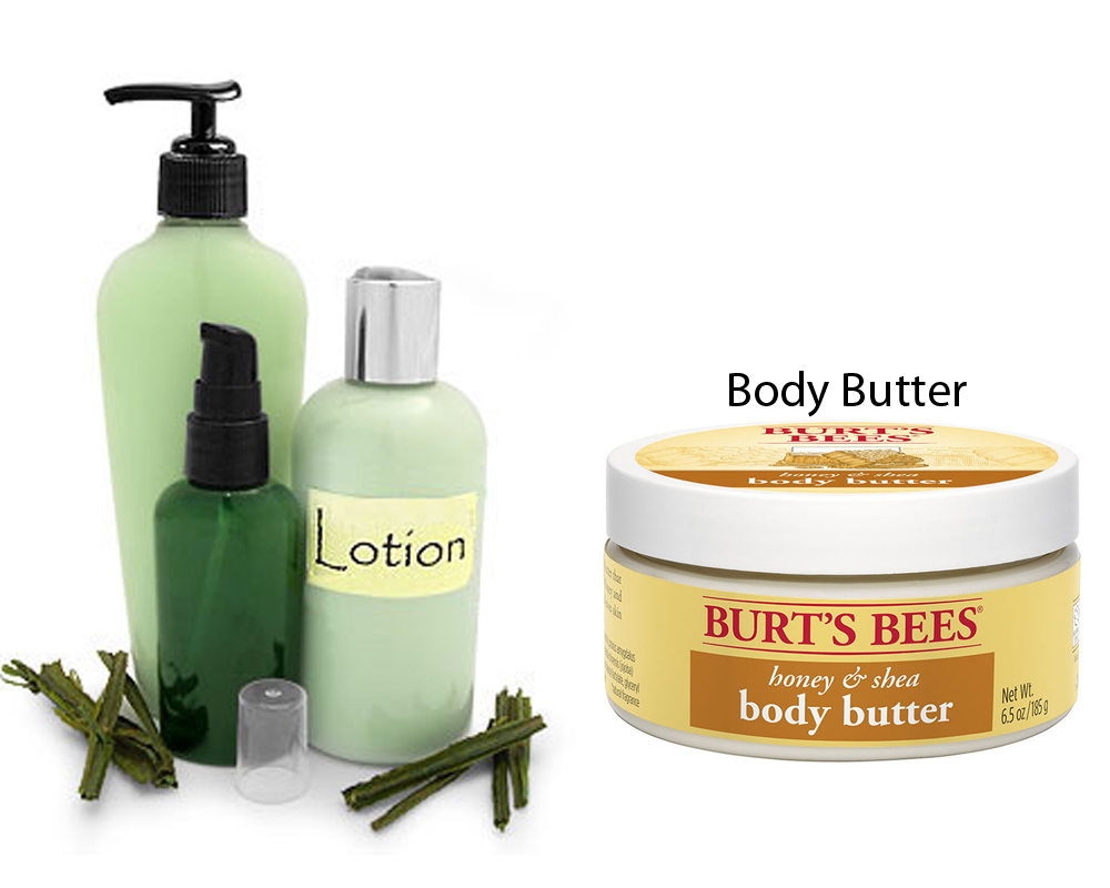 Lotion vs Body Butter 2