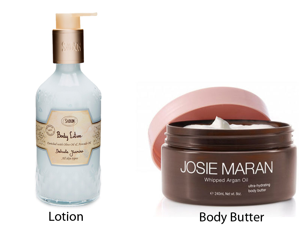 Lotion vs Body Butter 3