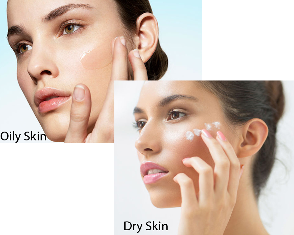 how to see if i am dry or oily skinned