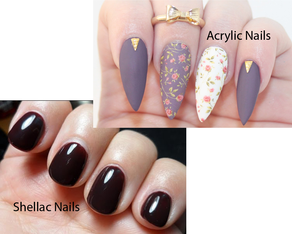 Shellac Nails vs Acrylic Nails 1