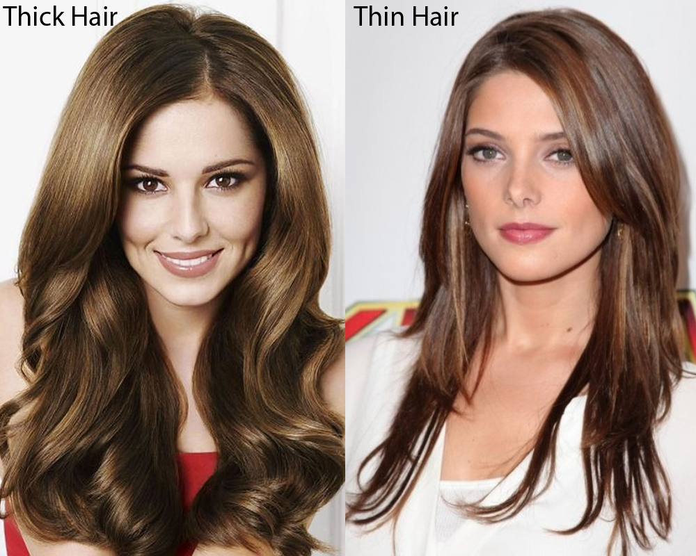 Thick Hair vs Thin Hair 1