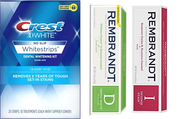 Crest Whitestrips vs Rembrandt