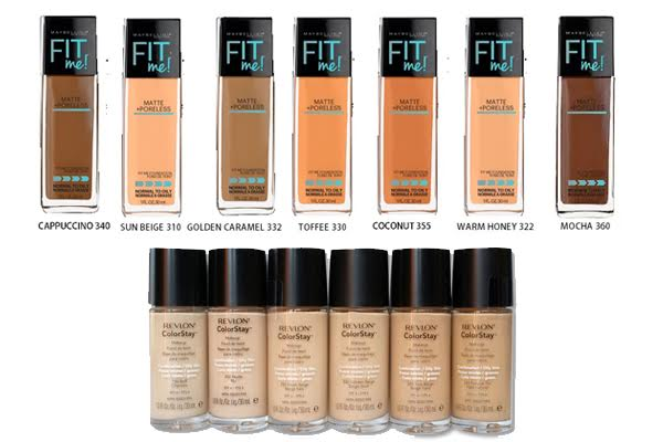 Maybelline Fit Me vs Revlon Colorstay